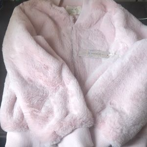 Pink faux jacket